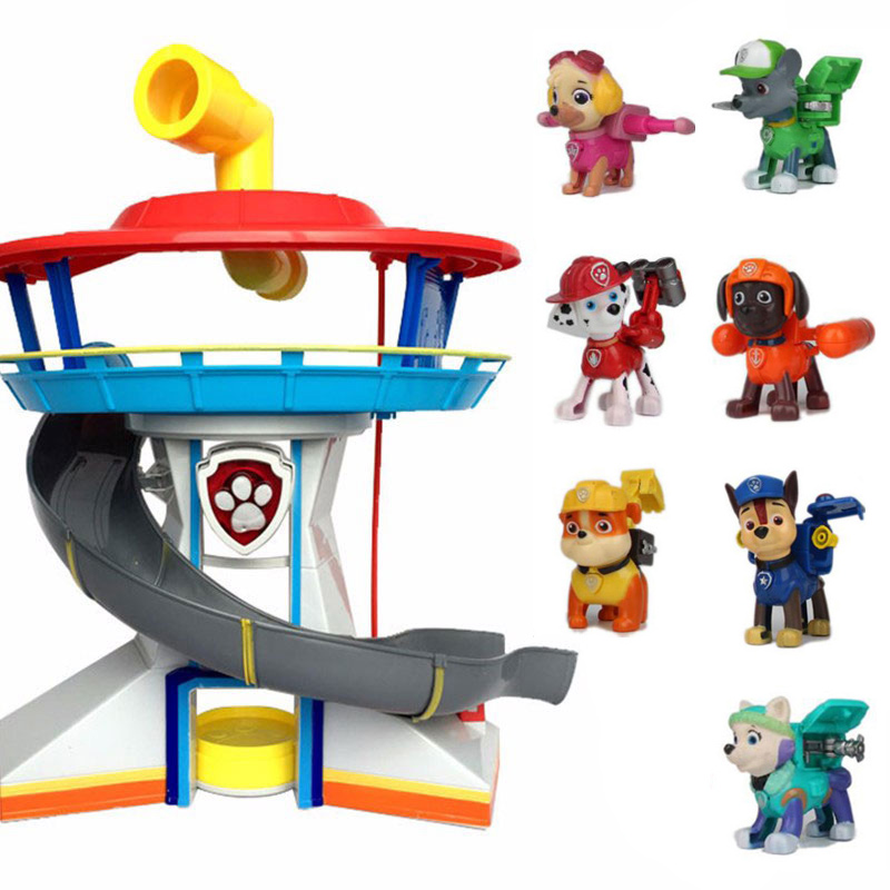 Puppy PAW Patrol Dog Car Action Figures Patrulla Canina Juguetes With Sound And Light Car Parking Lot Toy Set Kids Toys Gifts 2017 new designer spring autumn women elastic boots famous designer fashion booties round toe ladies dancing brand shoes a6631