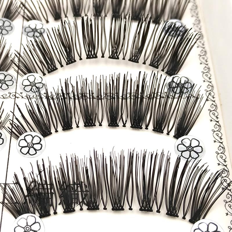 SHIDISHANGPIN 1 box false eyelashes natural long makeup eyelashes synthetic hair eyelash extension hand made 11mm faux cils L3 ...