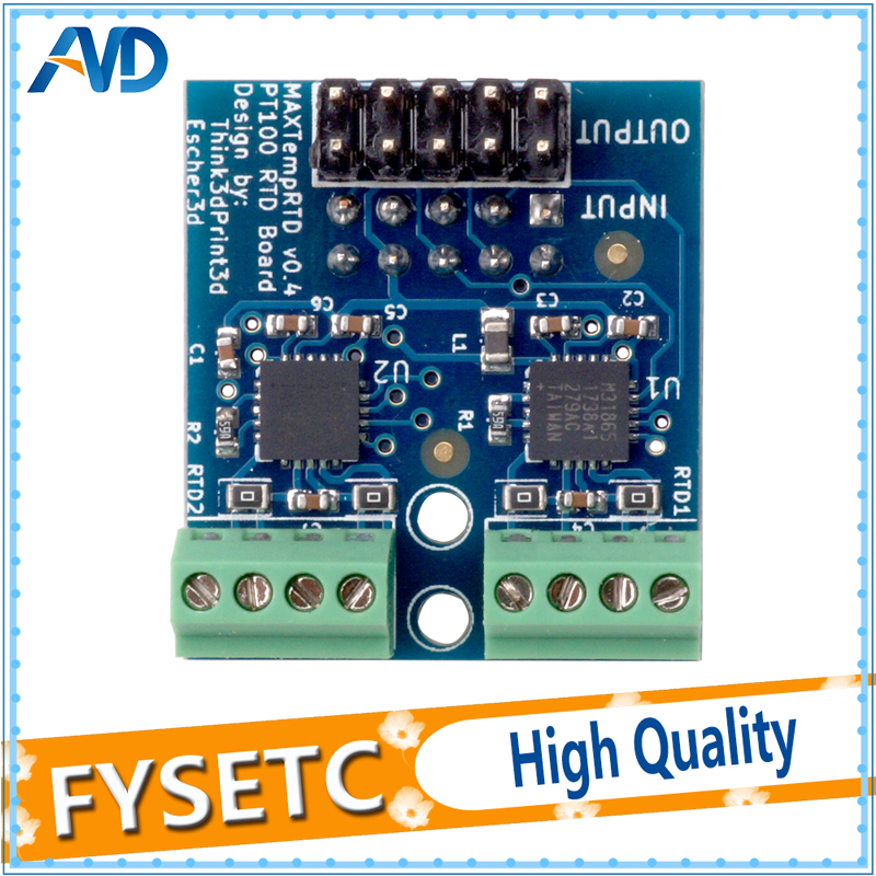 Cloned PT100 Daughter Board Allowing Two PT100 Temperature Sensors To Be Attached For The DuetWifi And The Duet Ethernet3D Printer Parts & Accessories   -