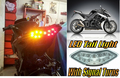 Motorcycle LED Taillamp 2010 2011 2012 2013 Kawasaki Z1000 & Versys / 2011-2013 Ninja 1000 LED Tail Light + Signals Smoke Smoky