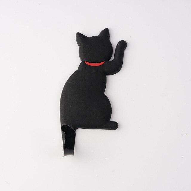 lovely cat design super strong magnetic hanger hook microwave oven kitchen refrigerator magnet hook wall hanger