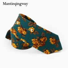 Mantieqingway Fashion 6cm Cotton Men's Tie Wedding Party Skinny Floral Ties Necktie Ties Gravata Corbatas for Men Women