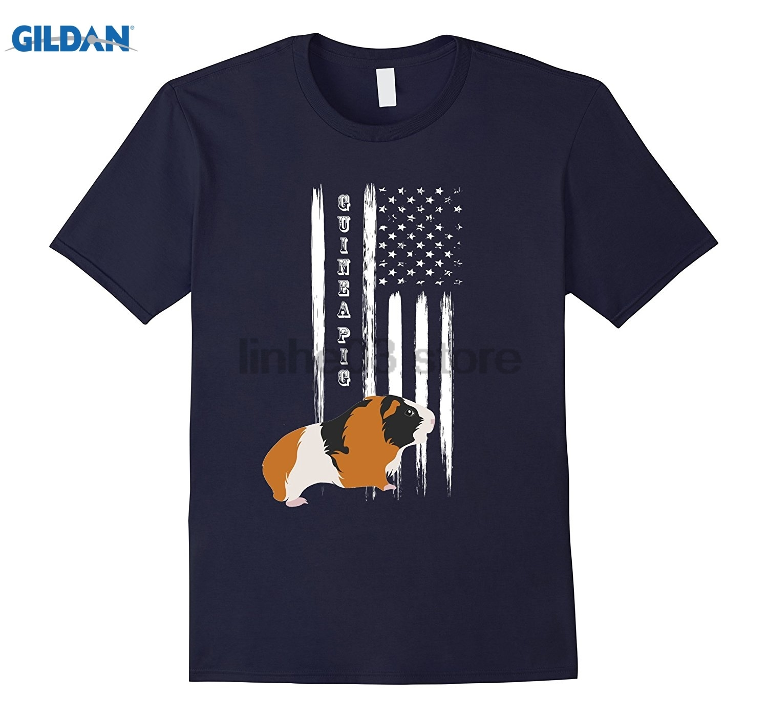 GILDAN Guinea Pig Pet US America USA United States T-Shirt Dress female T-shirt