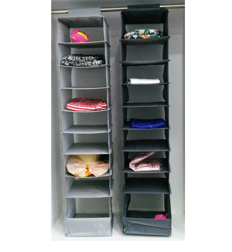 Marvelous Multifunction Storage Collection Foldable Hanging 9 Layer Compartments  Sweater Organizer,Light Grey Closet Organizer Hanging In Hanging Organizers  From Home ...