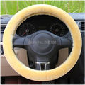 Free Shipping  New Winter Warm Soft Plush Car Steering Wheel Cover Auto Leather Coat 3 Color Optional