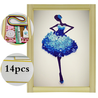 Paper Quilling Paper Assorted Multicolor Handcraft Origami DIY Home Decoration Pressure Relief Gift Manualidades Ballet Dancers