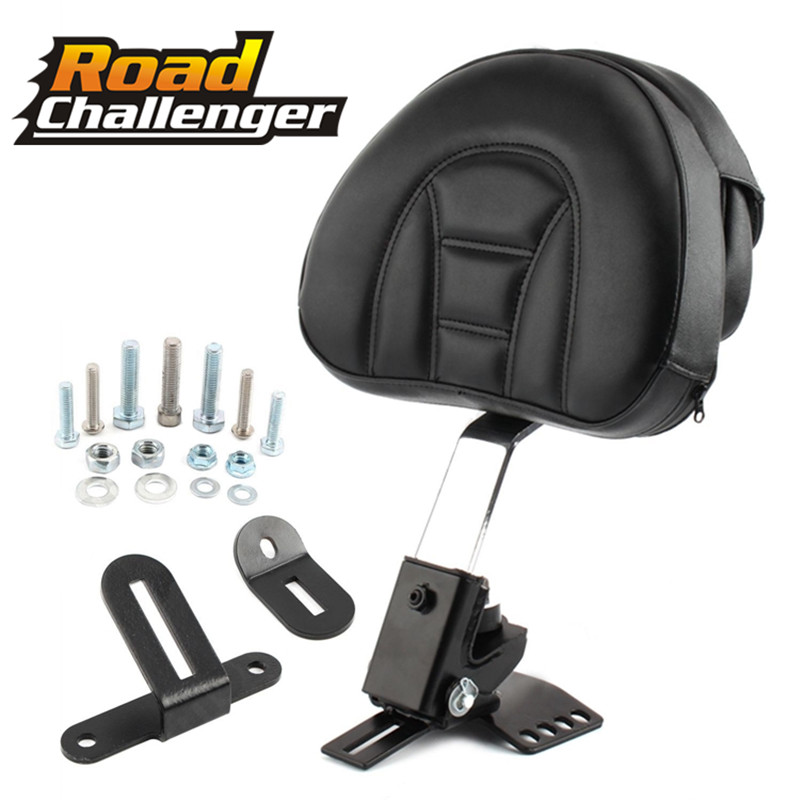 Adjustable New Plug In Driver Rider Seat Backrest Kit 1x Motorcycle For Harley Touring Electra Road Street Glide Road King 97-15