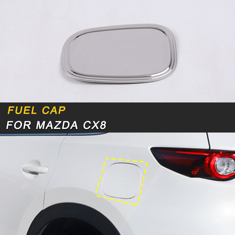 Car Fuel Cap Oil Gas Tank Cap Cover Trim for Mazda CX8 CX-8 2018 Exterior Accessories