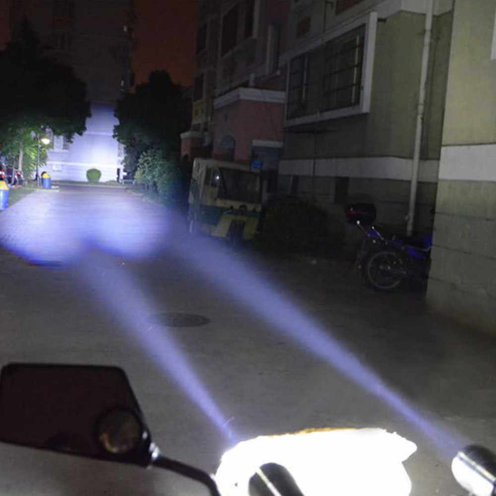 2pcs 30W LED Motorcycle Headlight Work Light U2 Laser gun cannon  Motorbike Driving Spotlights Headlamp Moto bicycle Lamp DRL