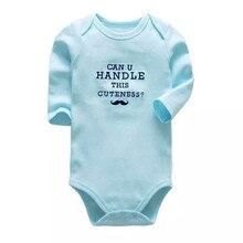 Newborn Bodysuits Long-Sleeve Baby Toddler Girls Infant Babies Boys 3-24-Months One-Piece