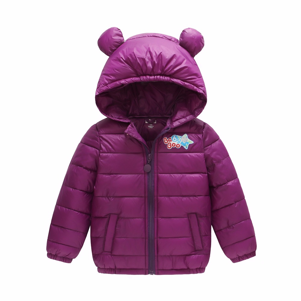 2017 newest  write cotton down jacket outwear coat for boys girls brisk baby kids children clothing winter warm imported parkas