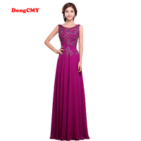 DongCMY CX0896 Formal Evening Dress New 2017 Long Vestidos Longo Purple Elegant V-Neck Robe De Roiree Plus Size Party Gown