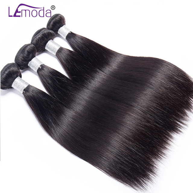 Peruvian Straight Human Hair Bundles With Frontal Closure LeModa Remy Hair Extensions 13x4 Ear To Ear Frontal With Bundles 1