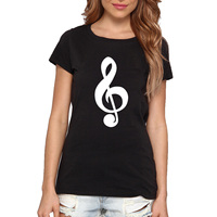 Loo Show Women S Funny T Shirt CLEFT MUSIC NOTE SYMBOL Ladies Shirt