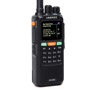 Abbree ar-889g gps sos walkie talkie 10watts 999ch night backlight duplex repeater dual band dual receiving hunting ham cb radio