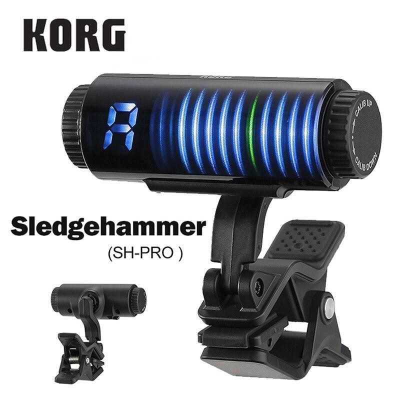 Accordeur de guitare à clipser Korg SHPRO Sledgehammer Pro affichage visuel 3D haute visibilité accordeur à clipser Ultra-précis