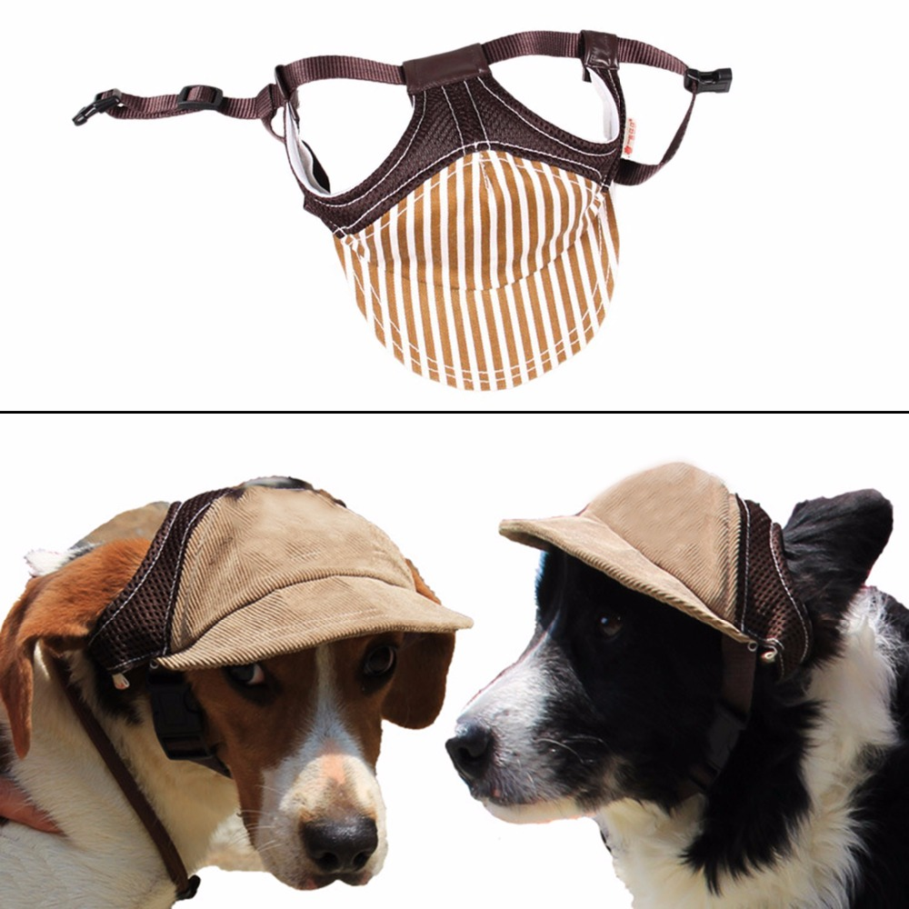 Dog Baseball Cap Pet Dog Outdoor Sport Adjustable Sun Protection Baseball Hat Cap in Dog Caps from Home Garden