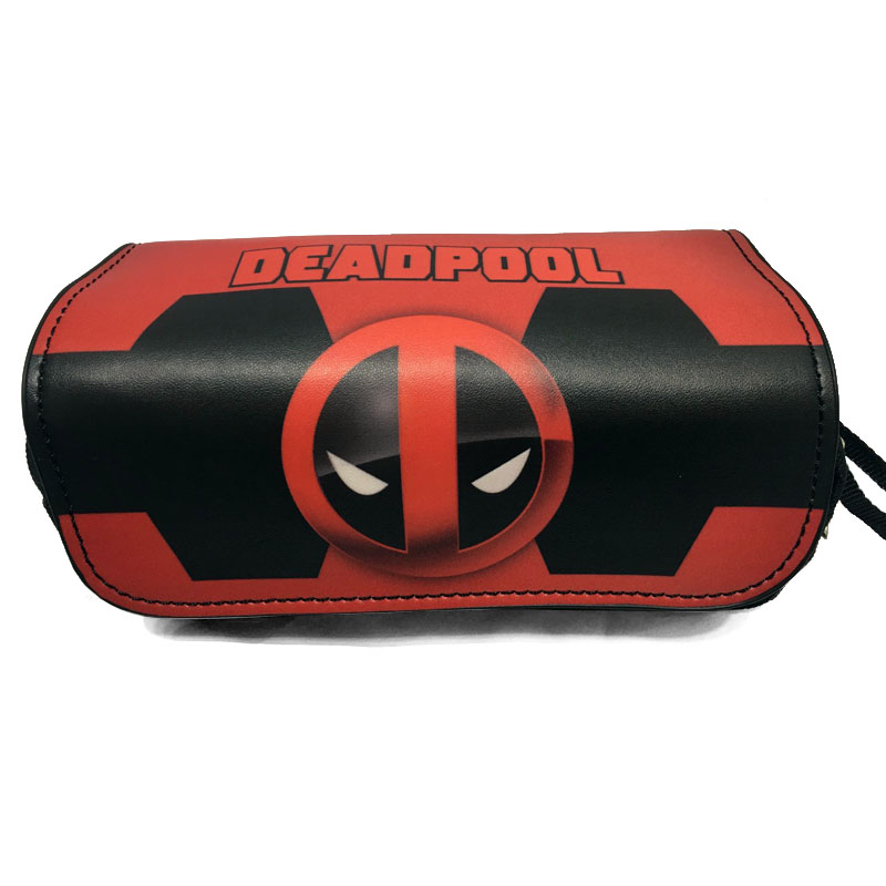 Anime Movie Deadpool/Spider-Man/Wonder Woman/Superman Pencil Case Makeup Bag Zipper Pouch Students Cartoon Stationery Pouch