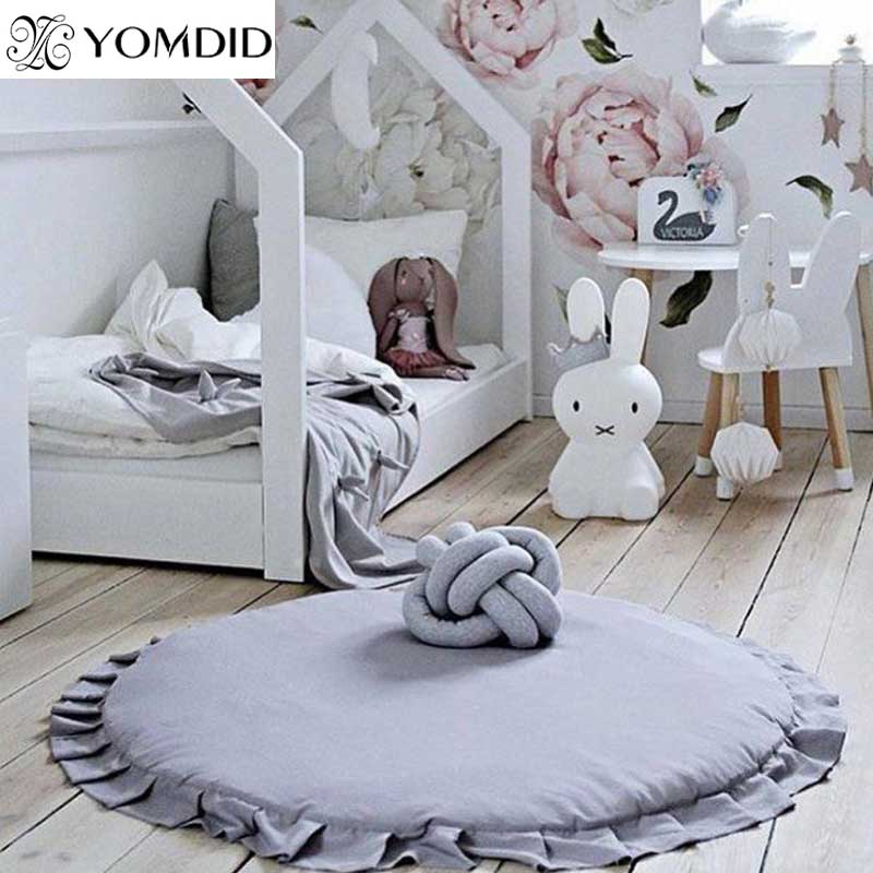96a689317d70 ... Baby Rugs Doots: Round Rug Door Mat Anti Slip Carpet For Living Room  Ruffle
