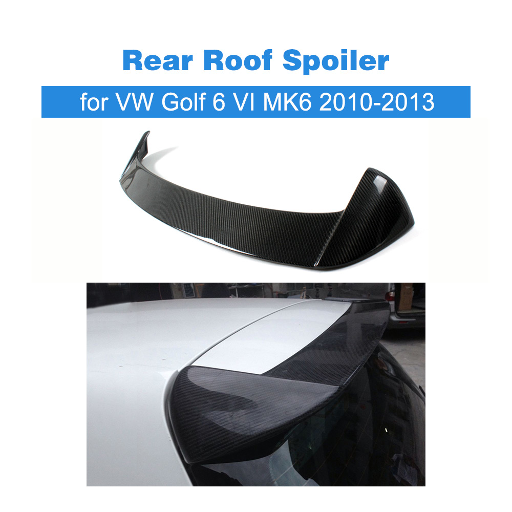 Carbon Fiber C Style Car Rear Roof Spoiler Window Lip Wing For Volkswagon VW Golf 6 VI MK6 2010-2013 FRP Unpainted car styling carbon fiber auto rear wing spoiler lip for vw scirocco 2010 2012