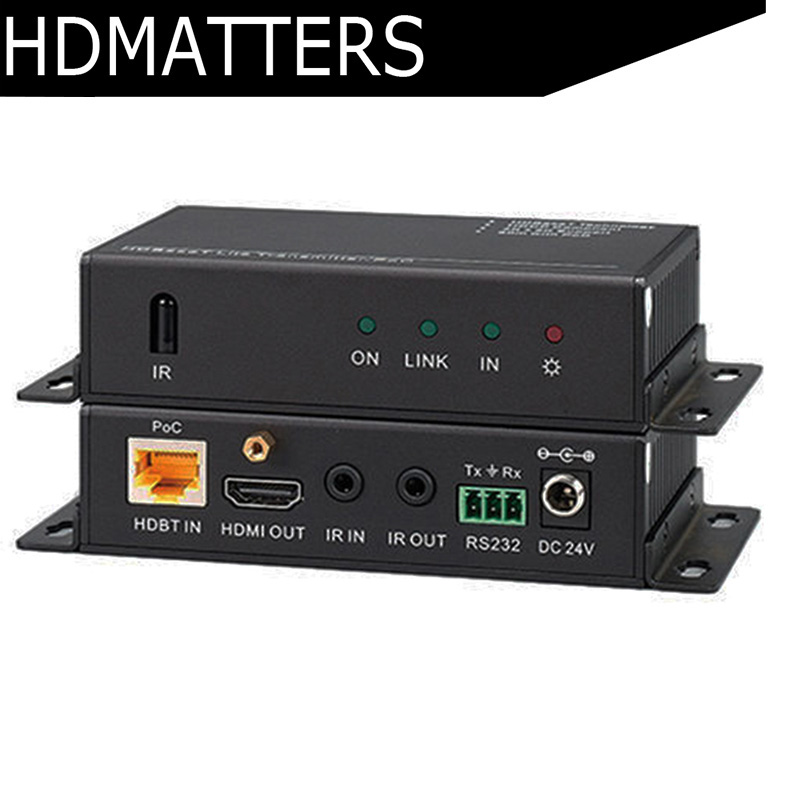 HDBaseT 4K HDMI extender with RS232+bi-direction IR control True HDCP 2.2 compliant  CEC 4KX2K to 40M and 1080P to 60M