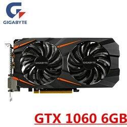 Видеокарта GIGABYTE GTX 1060, 6 ГБ, видеокарты, GPU карта для nVIDIA Geforce, оригинальная видеокарта GTX1060, 6 ГБ, 192 бит, HDMI, PCI-E, X16