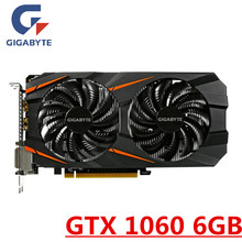 GIGABYTE GTX 1060 6GB Graphics Cards Video Card GPU Map For nVIDIA Geforce Original GTX1060 6GB 192Bit HDMI PCI-E X16 Videocard(China)