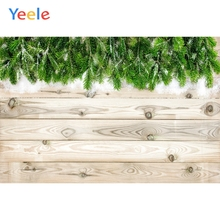Yeele Natural Wood Green Pine Snowflake Bedroom Decor Photography Backdrop Personalized Photographic Background For Photo Studio