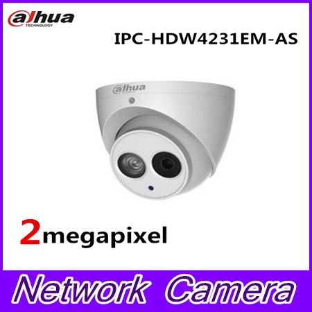 Dahua Built-in Mic 2mp Starlight IR Eyeball Network Camera NO LGO IPC-HDW4231EM-AS,free DHL shipping ...