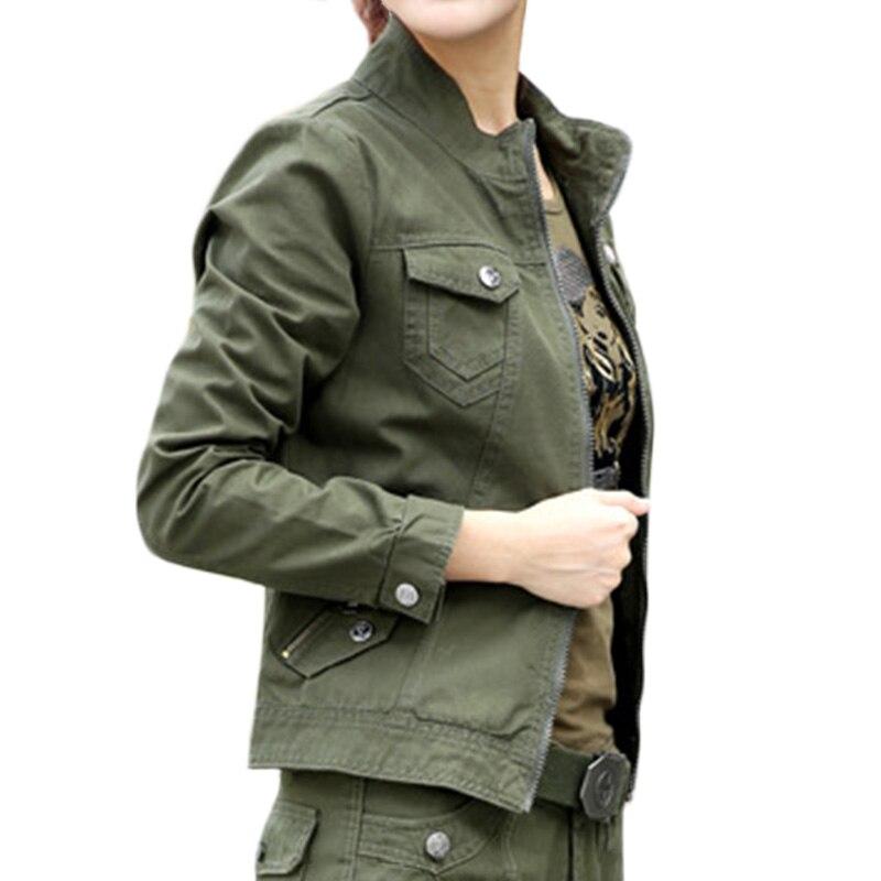 Algodón La Carga Casual Green Chaqueta Chaquetas Las Estilo Señoras Collar Soporte Mujeres Pr Militar Del Ejército 2018 Army 100 De Verdes SRRTWnBqO1