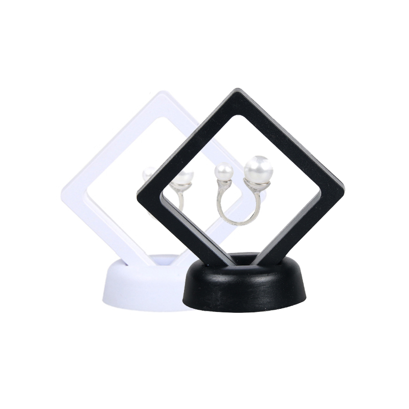 70*70mm PET Membrane Jewelry Ring Earring Ancient Coin Display Box Stand  Protect Jewelry Display Case Earring Display