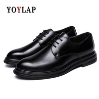 YOYLAP Brand Italian Style Men Dress Loafers Microfiber Leather Formal Business Oxfords Shoes Men's Flats For Party