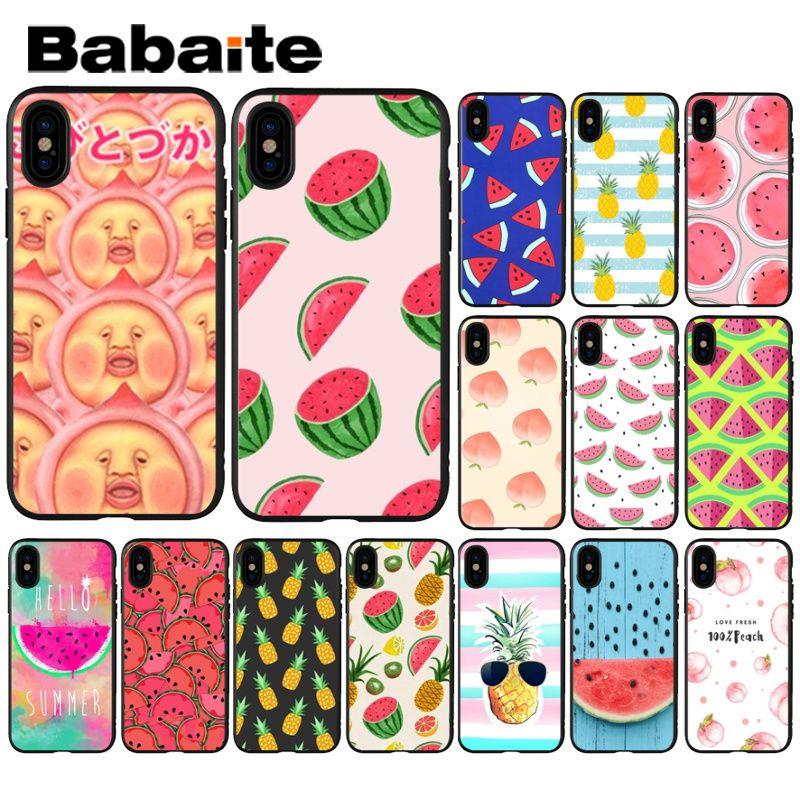 Cellphones & Telecommunications Maiyaca Fruit Watermelon Lemon Novelty Fundas Phone Case Cover For Apple Iphone 8 7 6 6s Plus X Xs Max 5 5s Se Xr Cellphones