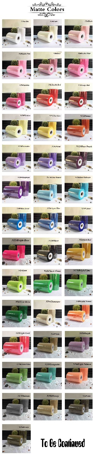 40 colori disponibili Tutu Tulle Fabric Spool Nylon Roll 100Yards per DIY morbido tutu dress