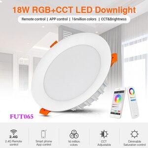 Image 1 - 18W RGB + CCT Đèn LED Âm Trần Downlight Âm Trần AC 220V Thông Minh Trong Nhà Phòng Khách Ánh Sáng Có Thể Ứng Dụng Điện Thoại Di Động/Alexa Thoại/Điều Khiển Từ Xa 2.4G