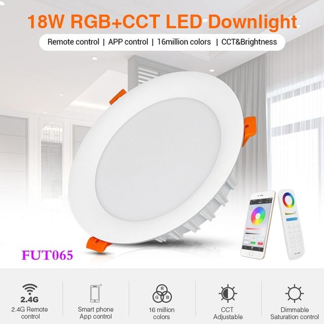 18W RGB + CCT Đèn LED Âm Trần Downlight Âm Trần AC 220V Thông Minh Trong Nhà Phòng Khách Ánh Sáng Có Thể Ứng Dụng Điện Thoại Di Động/Alexa Thoại/Điều Khiển Từ Xa 2.4G