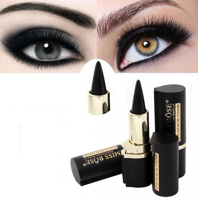 Señorita Rosa negro Gel delineador de ojos palo suave Easywear ojos maquillaje impermeable de larga duración mujeres belleza delineador de ojos pluma Maquiagem
