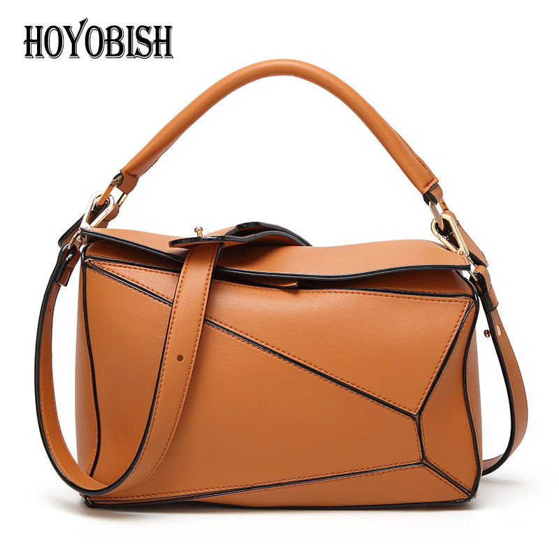 fe1281e4f2ef HOYOBISH Hot Spring Geometric Patchwork Handbags For Women Famous Brand  Crossbody Messenger Bags Pillow Shape Shoulder Bag OH107-in Shoulder Bags  from ...