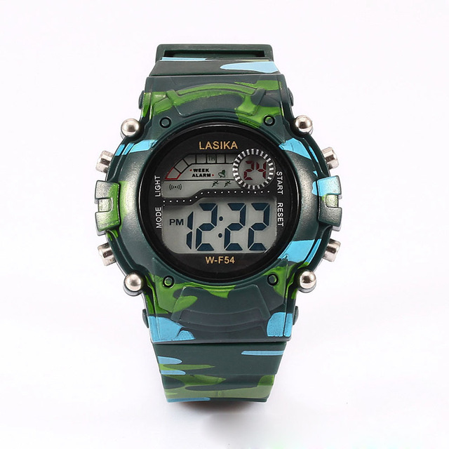 Fashion Camouflage Military Children's Digital Watches LED Display Alarm Clocks