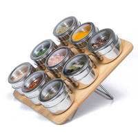 Magnetic Spice Rack Stainless Steel Magnetic Spice Rack Shaped Spice Rack Stainless Steel Jar