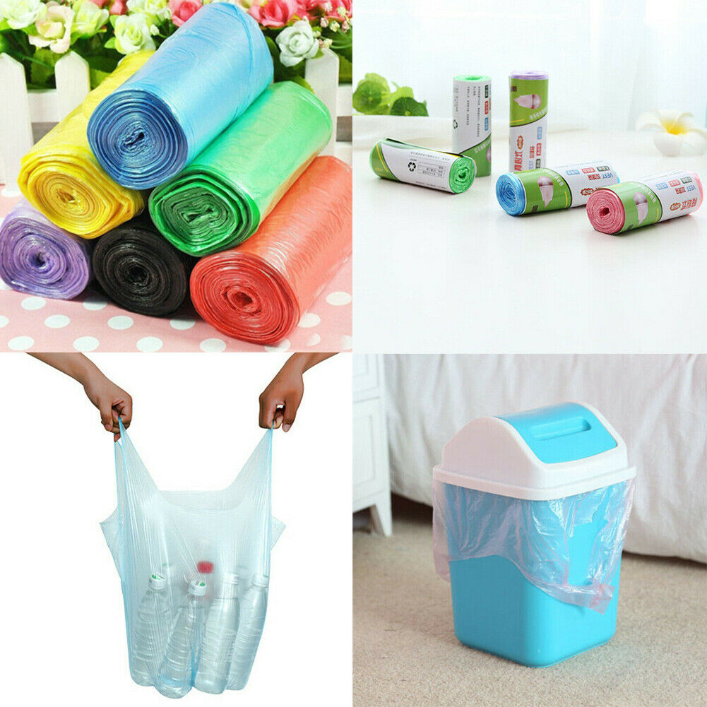 1Roll Small Garbage Bag Vest Type Trash Bags Durable Disposable Plastic Home Kitchen Tool