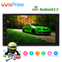 AMPrime Android 7'' Autoradio 2 Din Car Radio Multimedia Player GPS Navigation Touch Screen MP5 Audio Stereo Bluetooth USB/AUX