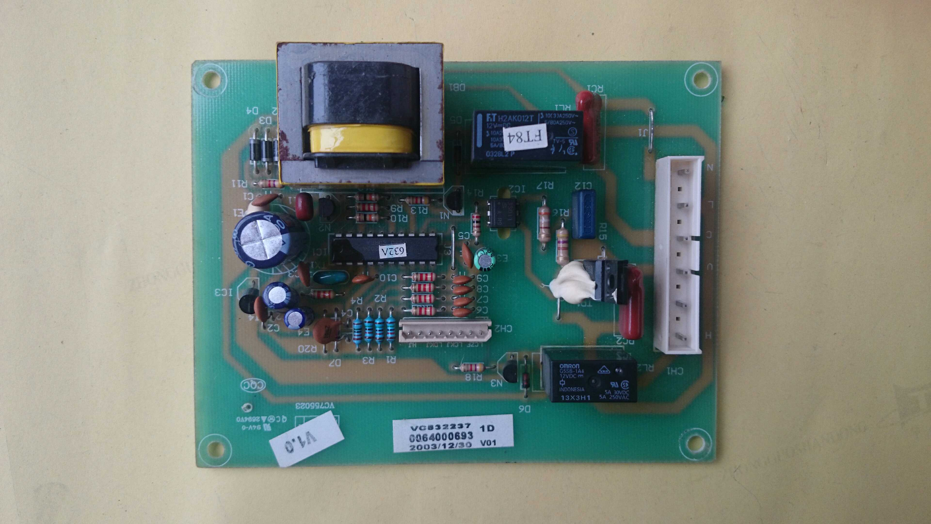 The original Haier refrigerator power main control board 0064000693 for Haier refrigerator BCD-206ZMD телевизор haier le42k5500tf