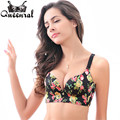 2016  Women's Bras Plus Size no rim Bra Push up Lace Bralette Uplift bras for Women Cropped Top woman Underwear