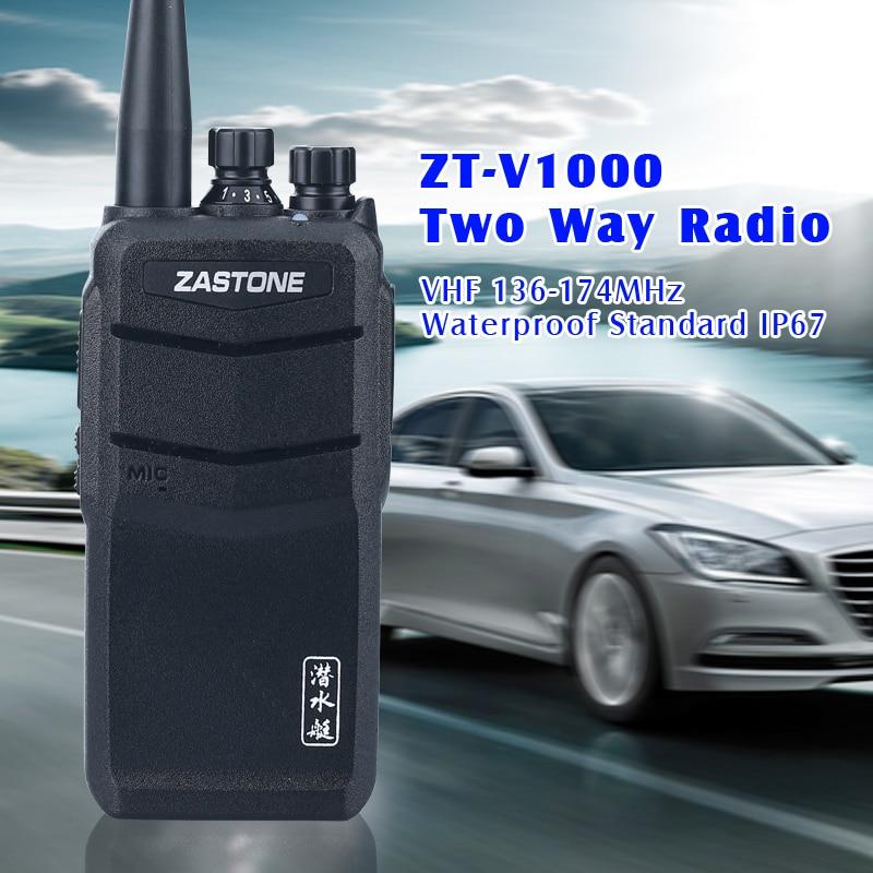 Waterproof Walkie Talkie Zastone V1000 Portable Two Way Radio VHF/UHF 8W 2000mAh Amateur Ham Radio telsiz comunicador