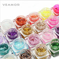 VEAMOR 24PCS Large Glitter UV Builder Gel Nail Polish Soak Off Resin UV Gel Nail Polish Set Bling Gel Polish