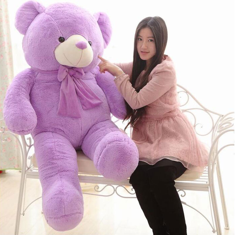 Kawaii 160cm Purple Giant Teddy Bear Plush Toys Large Stuffed Plush Doll Gift Plush Ted Movie Bear For Girlfriends Gift 4.2KG 1pc movie teddy bear ted plush toys in apron 40cm soft stuffed animals ted bear plush dolls birthday gift