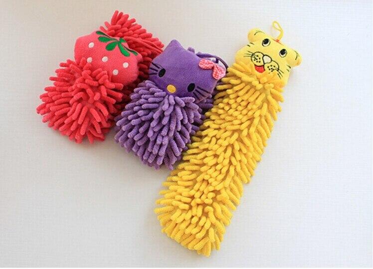 1 Pc Kinder Baby Handtuch Weichen Cartoon Chenille Hänge Wischen Bade Handtuch Küche Bad Reinigung Tuch Leicht Trocken Ok 0084