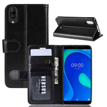 купить Case for Wiko View 3 Lite TPU and PU Leather Shockproof Cover with Flip Stand Function for Wiko Y80 Case Money Card Slots Holder дешево