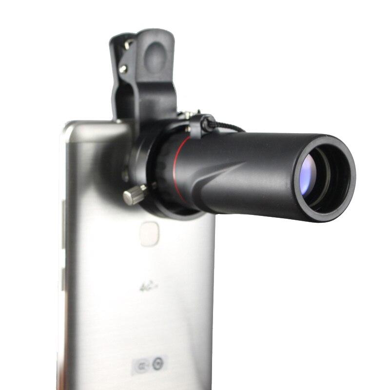 Профессиональный 10x25 телескоп HD монокуляр с зажимом мобильного телефона оптика бинокулярный Vista Зрительная труба для путешествий отдых
